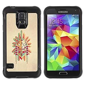 """Hypernova Defender Series TPU protection Cas Case Coque pour Samsung Galaxy S5 V [Polo nativo Dibujo estadounidense""""]"""