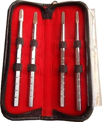 4fit 4 pcs Set Bone Spreader D shaped Dental Impalnt Lab Tools Surgical Instrumets