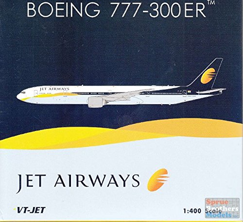 Phoenix Model PHX1761 1:400 Jet Airways Boeing 777-300ER Reg #VT-JET (pre-painted/pre-built)
