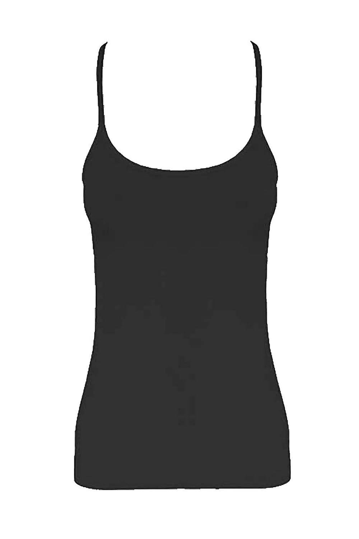 Islander Fashions Girls Sleeveless in Microfibra Plain Vest Top Bambini Book Week Day Tank Fit Top 5-12 Anni