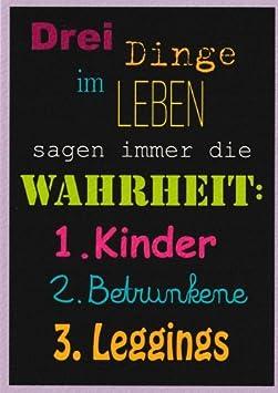 Postkarte Spruche Humor Drei Dinge Im Leben Sagen Immer Die Wahrheit Amazon De Burobedarf Schreibwaren