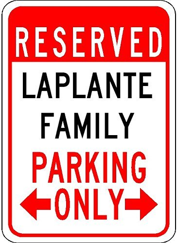 Metal Signs Laplante Family Parking - Customized Last Name - 8