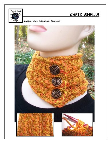Capiz Shells - Knitting Pattern #129 for Neck Warmer and Scarf