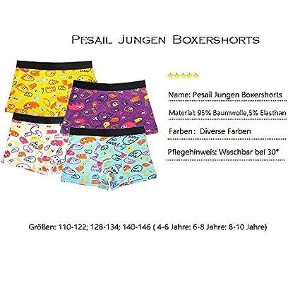 Pesail Ragazzi Boxer Bambino Pacco da 4//6//8//12 Misto Ragazzo in Cotone Biancheria Intima Taglia 92-104,110-122,128-134,140-146