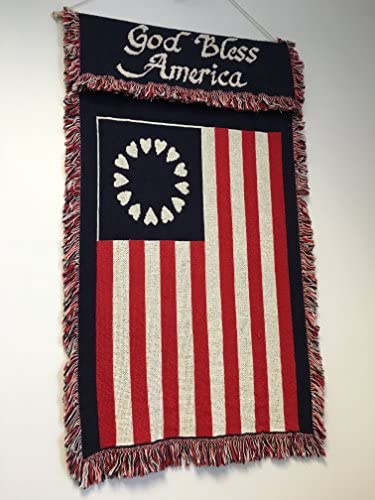 36 Betsy Ross USA God Bless America Flag Tapestry Wall Hanging Carpet Rug