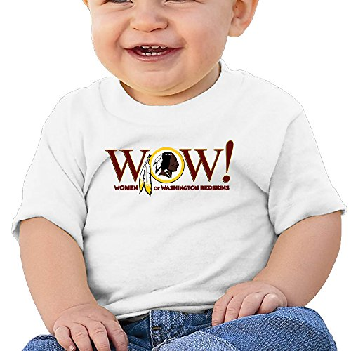 Price comparison product image Boss-Seller Washington Team Short Sleeve T-srhits For 6-24 Months Newborn Baby Size 24 Months White