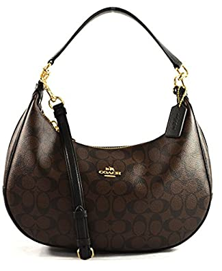 Amazon.com: COACH HARLEY EAST/WEST HOBO IN SIGNATURE F38267 ...