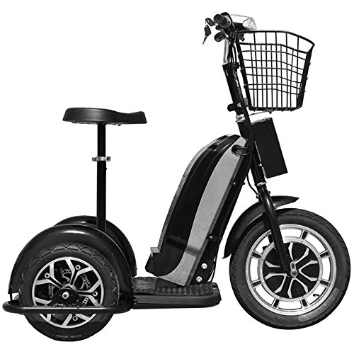 MotoTec Electric Trike 48v 800w Sit/Stand Maximum Weight 240 lbs 25 MPH Electric Tricycle