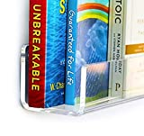 UNBREAKABLE Invisible Kids Floating Bookshelf. 6mm 1/4 inch thick. 3 Lengths