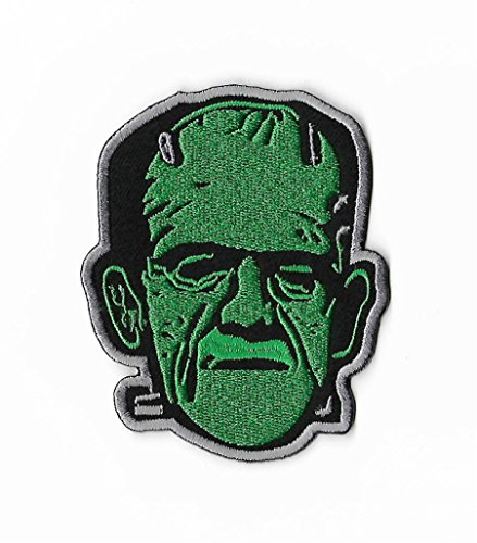 Frankenstein Patch Embroidered Iron / Sew on Badge DIY Applique Boris Karloff Classic Horror Movie Souvenir Costume Universal Monsters Retro