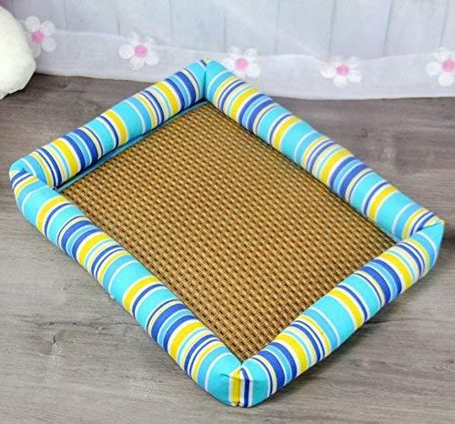 ANDRE HOME Summer Cool Mat Dog Kennel Pet Bed Cat Litter Dog Supplies (color   bluee, Size  M) Pet Bed Blanket