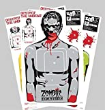 "Zombie Paper Targets - 25 Pack - Full-Size 18"" x 24"" - Perfect For Rifle, Pistol, BB/Pellet Guns"