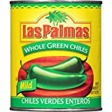 Las Palmas Whole Green Chiles, Mild, 27 Ounce (Pack of 12)
