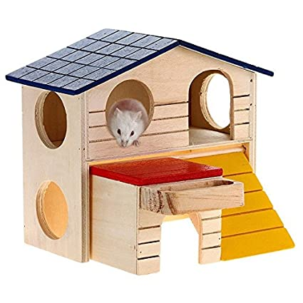 Excellent Amazon Com Wooden Pet Small Animal Rabbit Mouse Hideout Home Interior And Landscaping Ologienasavecom