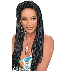 Vivica Fox 100 % Kanekalon Jumbo Braid #1B Off Black 6 Packs