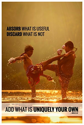 Absorb What Is Useful Discard What Is Not – Bruce Lee Quote Poster Wall Print|Inspirational Motivational Classroom Home Office Dorm|18 X 12 In|SJC85