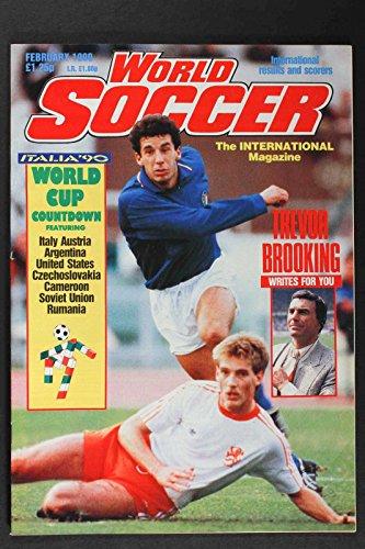 - FEB 1990 WORLD SOCCER MAGAZINE, TREVOR BROOKING, WORLD CUP COUNTDOWN NICE