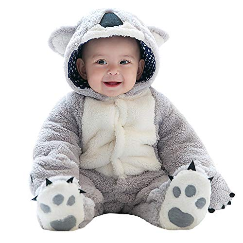 (Rest-Eazzzy Unisex Baby Flannel Romper for Winter & Autumn, Adorable Kids Animal Costumes Outfit Homewear,)