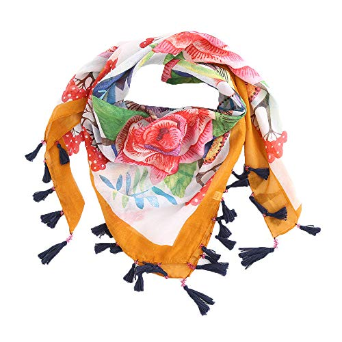 2018 New Fashion Warm Women Scarf Square Scarves Female Wraps Winter Autumn Tassel Printed Shawls Blanket Scarf (Orange)