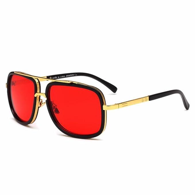 Aoligei Sonnenbrillen Männer Mode Sonnenbrillen Metall zwinge Kröte Gläser Yod1M