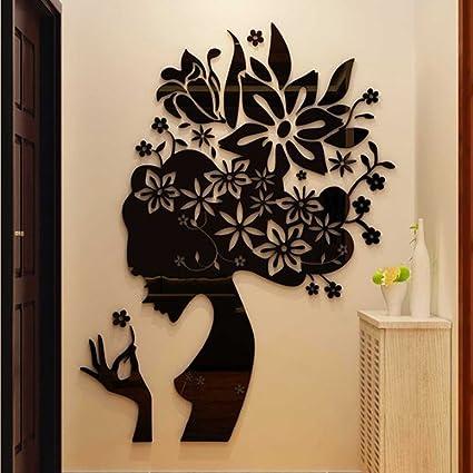 JWQT Salone di bellezza adesivo da parete decorativo centro ...
