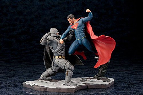 BATMAN v SUPERMAN: DAWN OF JUSTICE MOVIE BATMAN and SUPERMAN ARTFX+ STATUEs Set of 2