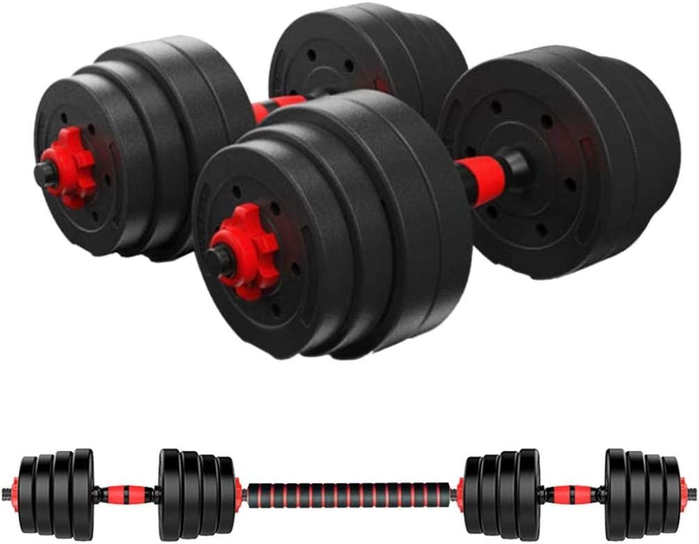 """88.18LBS Dumbbell Weights Set for Home Gym, 45.6"""" Adjustable Barbell Weight Set with Long Connecting Rod and Non-Slip Handle Easy-Adjusting Nut Durable Dumbbells Set for Men and Women"""