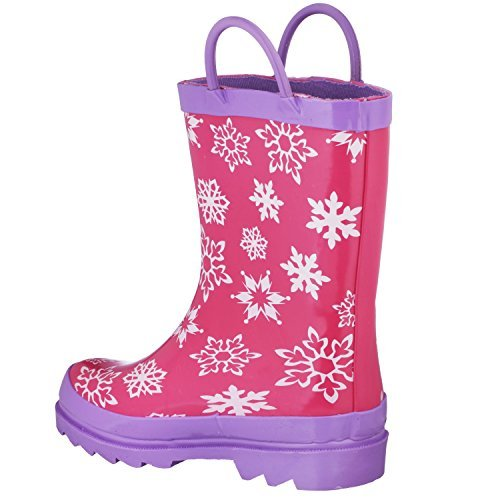 Disney Frozen Girls Anna and Elsa Pink Rain Boots - Size 12 M US Little Kid by Disney (Image #7)