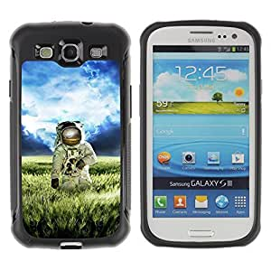 Hybrid Anti-Shock Defend Case for Samsung Galaxy S3 / Astronaut On The Field wangjiang maoyi