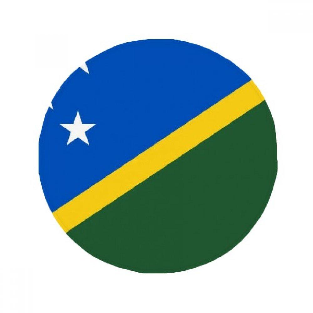 60X60cm DIYthinker Solomon Islands National Flag Oceania Country Anti-Slip Floor Pet Mat Round Bathroom Living Room Kitchen Door 60 50Cm Gift