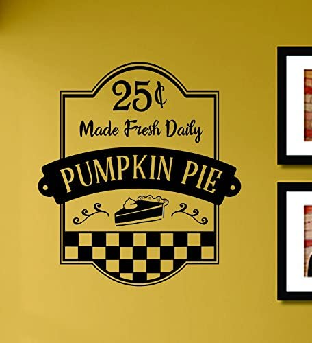 containers windows word art vinyl decorator decal for plates and more Pumpkin Pie- Oh my