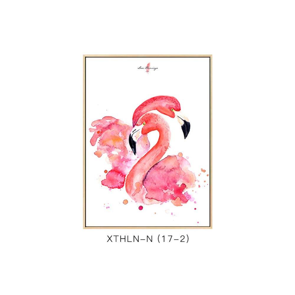 SED The Flamingo has Frame Paintings, Modern Jane European Animal Prints, Creative Literary Style, Living Room Bedroom Decoration Paintings,C,3040cm by SED