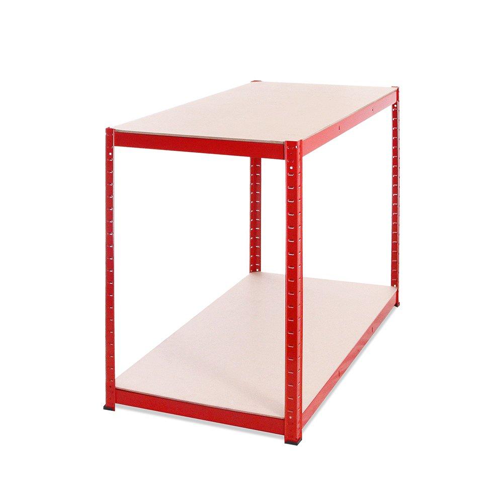 Red Garage Almacenamiento con estanter/ía 90 cm de alto 120 cm ancho  60 cm profundidad