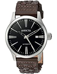 Invicta Mens I-Force Automatic Stainless Steel and Leather Casual Watch, Color:Brown (Model: 22947)