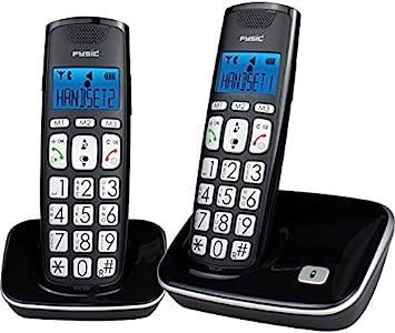 Dúo de teléfonos inalámbricos con teclas grandes: Amazon.es: Electrónica