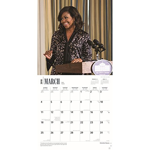 First Lady Michelle Obama 2018 Wall Calendar Photo #2
