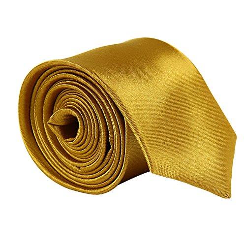 Satin Neck Gold Slim Men Tie Ties AllRight Ties Plain BxwTqUO
