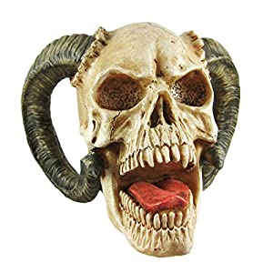 Grinning Highly Realistic Replica Human Skull Statue Home Décor 6.5×4.25×4.6″