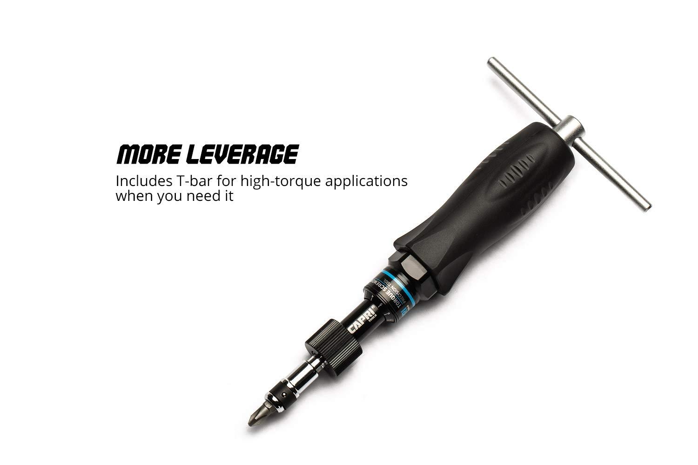 Black Small Capri Tools CP21075 Certified Limiting Torque Screwdriver Set