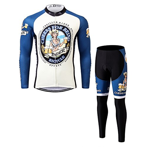 寝る出席社員Thriller Rider Sports サイクルジャージ メンズ 男性自転車運動服装半袖 Cheers for Being 4 Colors