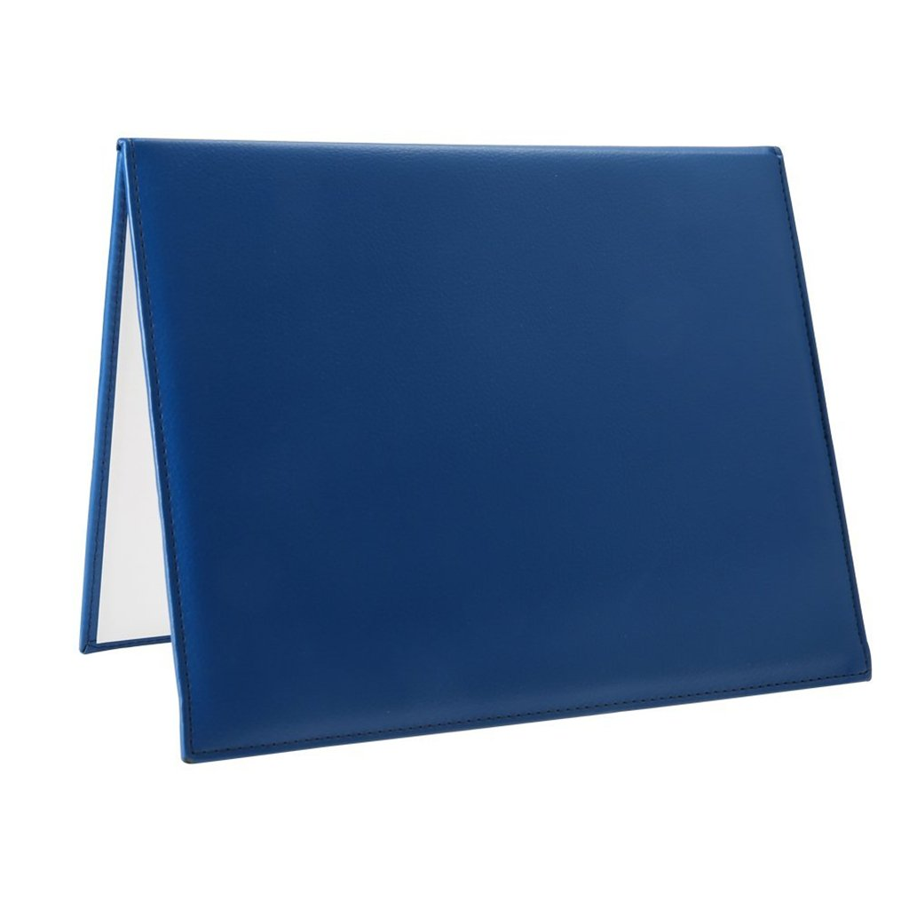 GraduationRoyal Certificate Cover Leatherette Smooth Diploma Cover with Protective film 8 1/2'' x 11'' Letter Size for Graduation Royal Blue