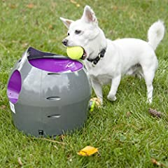 The PetSafe Automatic Ball Launcher is the premium choice in automatic fetch games. As a PetSafe Brand product, safety and fun are top priority. Dogs can play with the Automatic Ball Launcher with or without their human thanks to multiple saf...