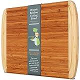Greener Chef ORGANIC Bamboo Wood Cutting Board & Chopping Board, Best Extra ...