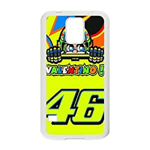 SamSung Galaxy S5 cell phone case White Valentino Rossi 46 phone cases&Holiday Gift P6679543