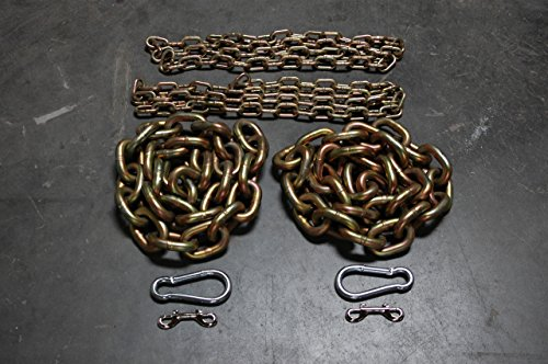 5/8'' 1/2'' & 3/8'' Weightlifting Chain Package 78.6 lbs Powerlifting - Crossfit by Advantage Rigging
