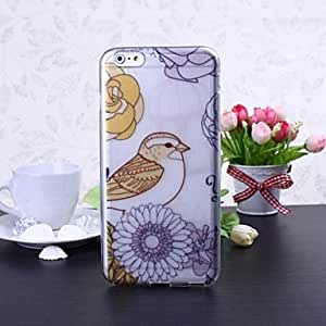 LIMME Bird and Flower Pattern TPU Soft Case for iPhone 6 Plus