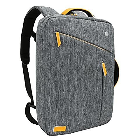 Laptop Backpack, Evecase Water Resistant Convertible Canvas Briefcase Messenger Backpack - fits up to 17.3-inch HP / Dell / Asus / Acer / Lenovo / Samsung / Toshiba / Apple Macbook Laptop - Gray