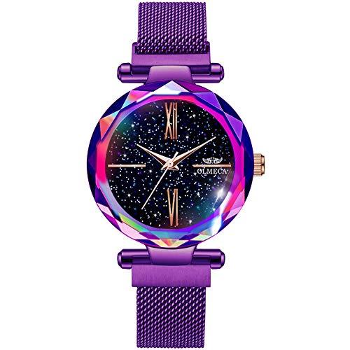 OLMECA Women's Watches Fashion Luxury Watches Ultra Thin Wristwatches Waterproof Quartz Women Watches Girls Watch for Women 0866L-QZiwd
