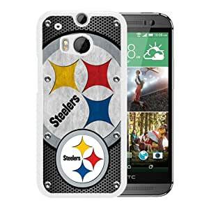 Pittsburgh Steelers 03 White Fashionable Design HTC ONE M8 Plastic Case