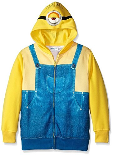 Despicable Me Big Boys' Character Hoodie, Yellow, 8 ()
